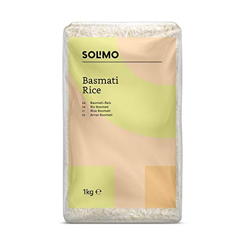 Amazon- Marke: Solimo  Basmati- Reis 4er-Pack (4x1kg)