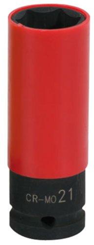 KS Tools 515.1076 1/2 Alu-Felgen Kraft-Stecknuss robust, lang, 21mm