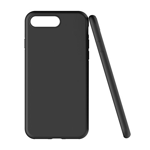 iPhone 7/ 8 Plus Hülle - iHarbort Weich Gelee Gel TPU Silikon iPhone 7/ 8 Plus Tasche Schutzhülle Case Cover Stoßstange-Abdeckung mit Stoßdämpfung Stoßstange mit Displayschutzfolie, Transparent Schwarz