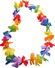Hawaiian Tropical Leis For Beach Fancy Dress Up Costumes Outfits Accessory by UKPS (Rainbow Leis)