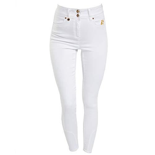 Holland Cooper Jodhpur Ladies Jean in White Rise Jodhpur