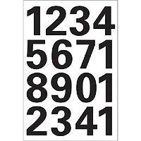 0-9, wetterfest, Folie, schwarz, 1 Bl., 4168 (Zahlen 1 25)