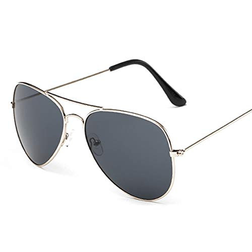Aprigy - Art und Weise helle Sonnenbrille Frauen Klassische Gläser Steigungs-Sonnenbrille Männer Frosch-Spiegel-Sonnenbrille Klare Sichtscheibe [Schwarz-Linse 2]