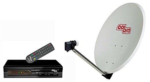 Cobra K 161 Kit Satellitare, Parabola 60cm, LNB Universale, Ricevitore SAT FTA mod. Furetto