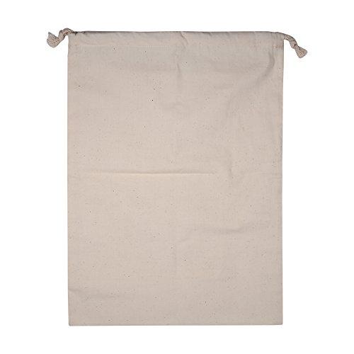 Zerodis Confezione da 2 Sacchetti con Cordino in Cotone, Sacchetto di Stoffa per Sacchi da Sacco di Stoccaggio in Cotone Normale per Uso Domestic(30 * 40cm)