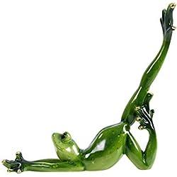 G-wukeer Yoga Grenouille Décoration, Résine Yoga Grenouille Figurine Méditer Statue Décoratif Jardin Artisanat Décorations Porche Magasin Animal Ornements pour La Maison Accessoires