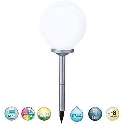 Solar LED Außenleuchte IP44 Gartenleuchte Farbwechsel Lampe Kugel Globo 33793 von Globo - Lampenhans.de