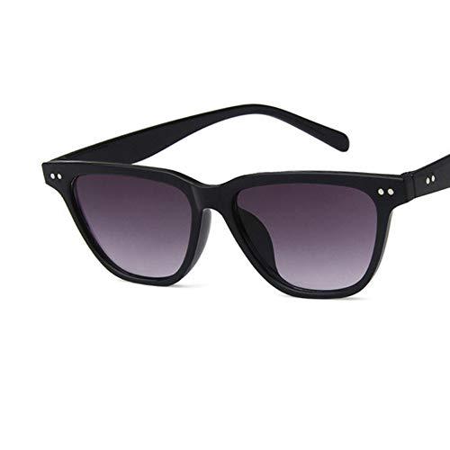 WZYMNTYJ Vintage Cat Eye Sonnenbrille Frauen Retro Niet Schwarz Spiegel Cat Eye Sonnenbrille Für Weiblich Männlich Outdoor Shades Brillen Uv400