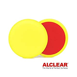 ALCLEAR 5516030M Schleifpad, Medium, Durchmesser : 160 x 30 mm, gelb,2er Set