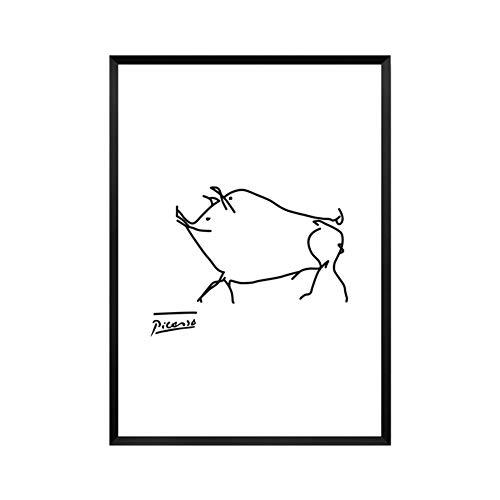 Bilder Auf Leinwand Bild Druck Auf Leinwand Minimalistischen Pablo Picasso Abstrakte Baumschule Leinwand Malerei Tierische Kunst Öl Poster An Der Wand Bild Für Wohnzimmer Home Decor Ungerahmt, 20 -