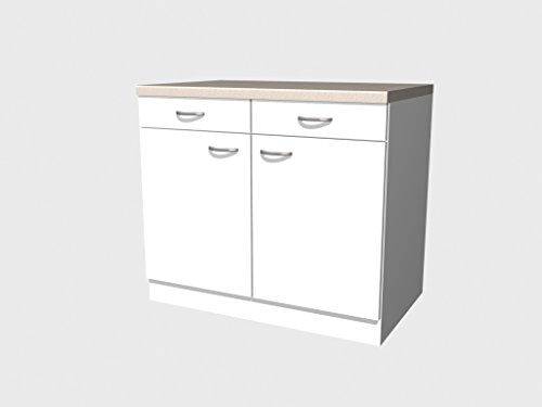 Flex-Well Classic Unterschrank Wito 100 cm Weiß