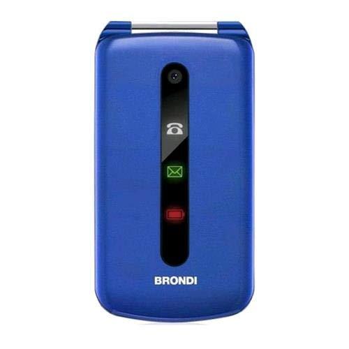 Brondi PRESIDENT Cellulare Ultra Sottile e con Icone LED sul Flip, GSM  Dual SIM, Blu