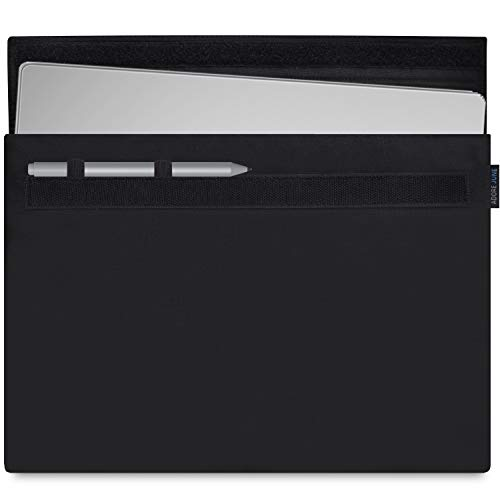 Adore June Classic Schwarz 13,5 Zoll Hülle für Microsoft Surface Book 2 & Surface Book (Erste Generation) Robuste Tasche mit Stift-Halter für Microsoft Surface Pen