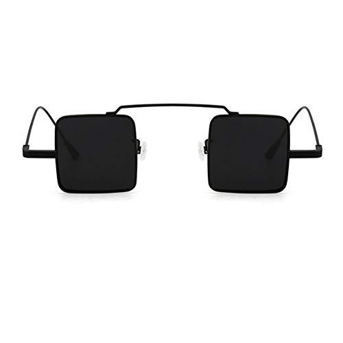 Kjwsbb Männer/Frauen Metall Rot Gelb Blau Klar Kleine Quadratische SonnenbrilleVintage Reflektierende Sonnenbrille