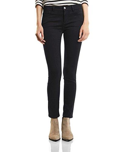 Street One Damen Slim Jeans 370957 York, Schwarz (Black Denim Wash 11080), W25/L30