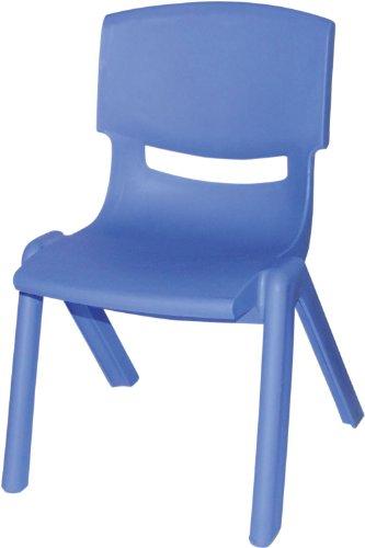 Bieco 04000003 – Kinderstuhl aus Kunststoff, stapelbar, ca. 53 x 33 x 28 cm blau
