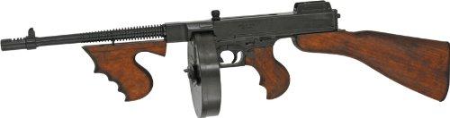 Denix Thompson M1 Mafia-MP Maschinenpistole, Trommel-Magazin, 1928 Metal Deko-Waffe