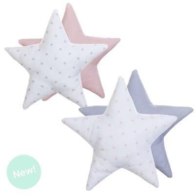 Foto de Dcasa - Juego de 2 Cojines originales diseño forma estrella 40x40 cm