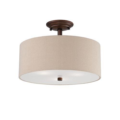 Millennium Lighting 3123-RBZ semi Flush Ceiling Mount by du Millénaire