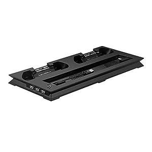 Soldmore7 für PS4 Pro Cooling Stand, PS4 Pro Vertikaler Ständer Kühler Controller Ladestation für Playstation 4 Pro
