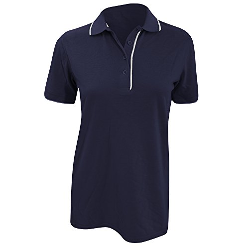 Polo à manches courtes Kustom Kit Essential pour femme Vert citron/Blanc