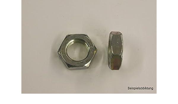 5 Stk DIN 439 Sechskantmuttern flach Edelstahl A2