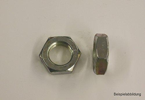 10 Stk DIN 439 Sechskantmuttern flach M10x1 - Edelstahl - Feingewinde