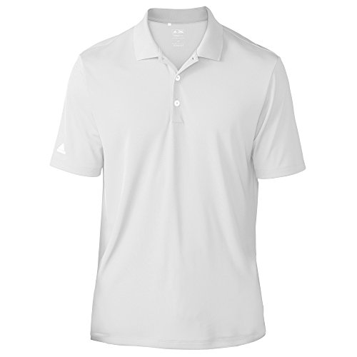 adidas Teamwear Herren Polo-Hemd, Kurzärmlig (XS) (Weiß)
