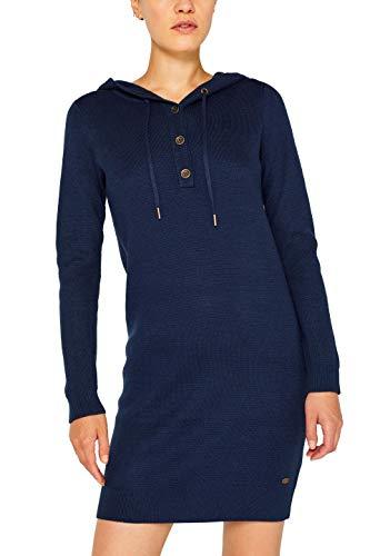 edc by ESPRIT Damen 089Cc1E014 Kleid, Blau (Navy 2 401), Small (Herstellergröße: S)