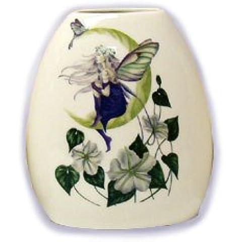 Jessica Galbreth Hada Luna Flores Jarrón de porcelana (Pequeño, ead385