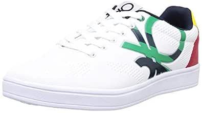 United Colors of Benetton Men's White Sneakers-7 UK EU (19A8SNEA9101I_902_41)