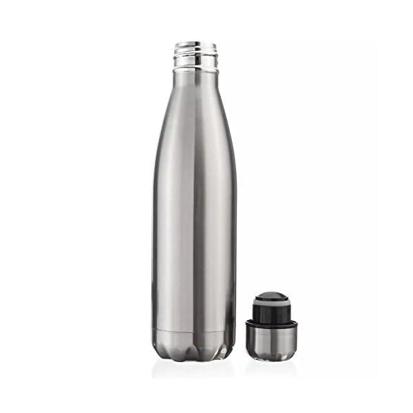 Bottiglia d'acqua 500ml doppia parete in acciaio inox coibentato, mantiene Bevanda calda & fredda Perfetto per Campeggio… 3 spesavip