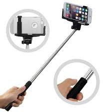 BMS Black Selfie Monopod Stick with Bluetooth Wireless Remote Shutter...