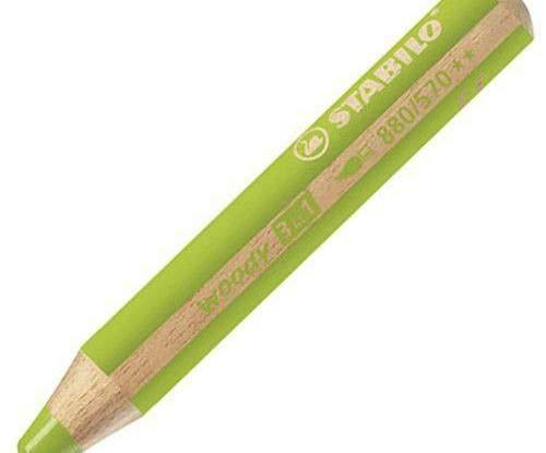 Pennarello Stabilo Woody 3 V 1 - Luce Verde, Stabilo, Pastelli A Cera, Colori, Scuola Di Creatività