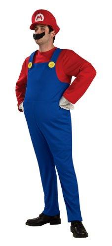 Super Mario Adult DLX Gr. L, M, S, Größe:M (Mario Bros Kostüme Uk)