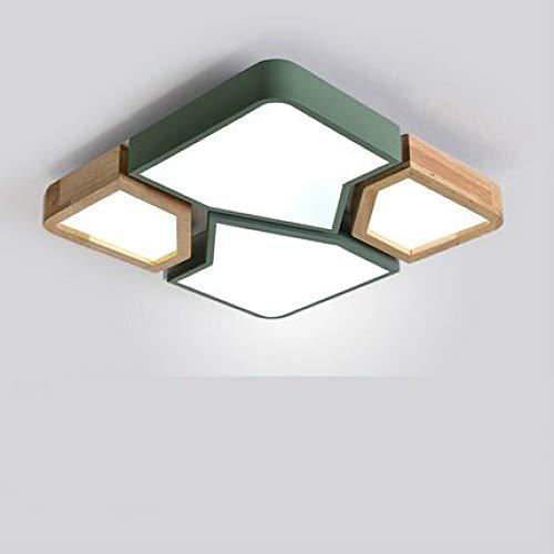 WSYYWD Lámpara de salón Lámpara de techo led para sala de estar atenuación de roble ambiente minimalista dormitorio