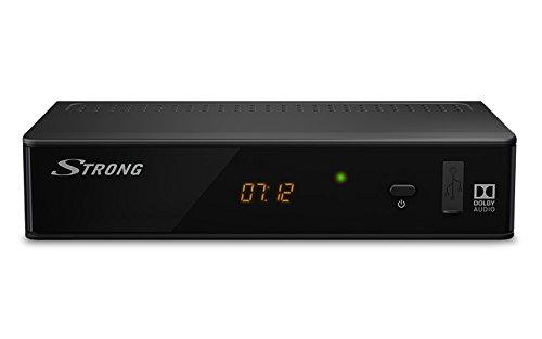 STRONG SRT8211 Décodeur TNT Full HD -DVB-T2 - Compatible HEVC265 - Récepteur/Tuner TV avec fonction enregistreur (HDMI, Péritel, USB, Dolby Digital Plus) - No