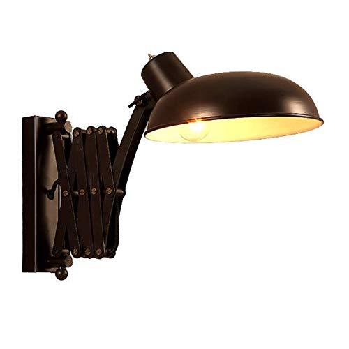 Loft Industrial Wandleuchte, Retro Innenbeleuchtung Arbeits-lampe, Schwarz Scharnier Wandlampe, Labor Scherenlampe, Einstellbare Schatten Basismetall Multifunktions-leuchte Schlafzimmer Studie E27