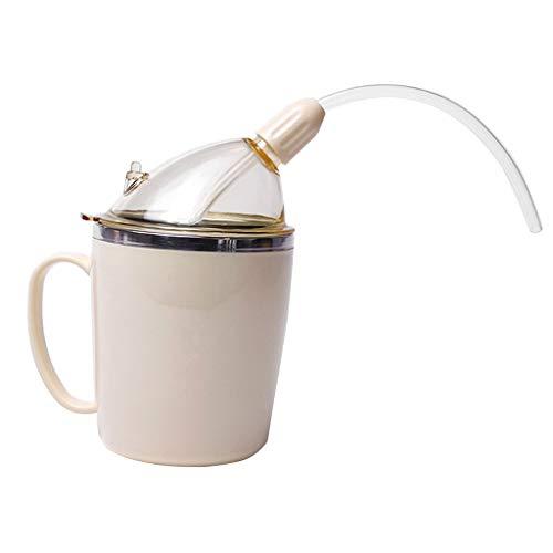 Fenteer Trinkbecher Auslaufsicher Trinkhilfe Trinken Becher für ältere Menschen 16
