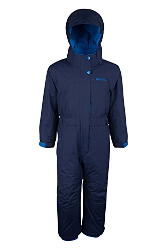 Mountain Warehouse Cloud All In One Waterproof Skiing Snowboarding Padded Fleece Lined Snowsuit Kid Navy 1-2 years