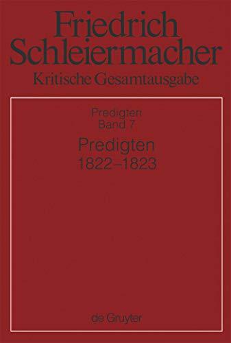 Predigten 1822-1823: Abteilung III. Band 7