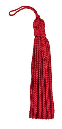 Set von 10Rot Chainette Quaste, 7,6cm lang mit 2,5cm Loop, Basic Rand Collection Stil # RT03Farbe: rot-E13 -