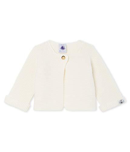 Petit Bateau Unisex Baby Cardigan_4966305 Strickjacke, Weiß (Marshmallow 05), 68 (Herstellergröße: 6M/67cm)