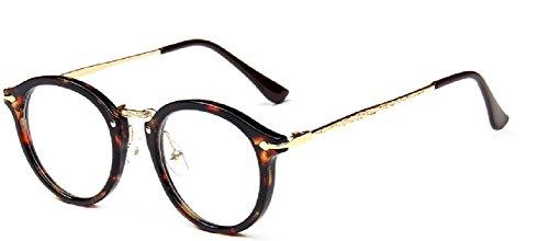 Embryform Retro lunettes rondes frame hommes miroir plaine et les femmes visage religieux sauvages 9580 Marron