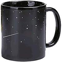 Ndier 1 Cambio de Color Taza de café Taza de Calor Sensible Taza de café Divertida Taza de cerámica Negro