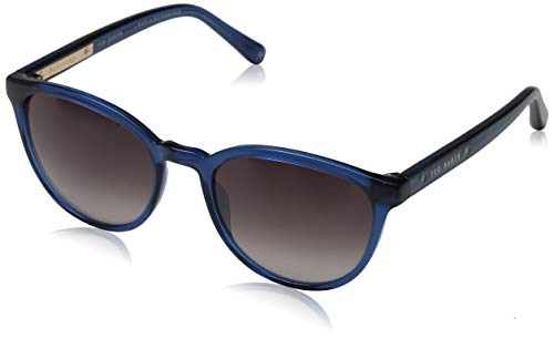 Ted Baker Damen Cecile Sonnenbrille, Blau (Green Blue/Grey), 53.0