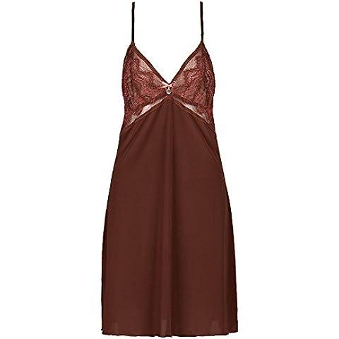 Encaje tirantes camisón/chándal/Falda bordada color sólidoV pijamas de cuello/ pijamas de una pieza