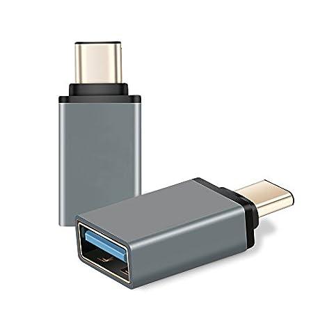 Adaptateur USB-C vers USB, XMDirect USB 3.0 Haute vitesse Aluminium