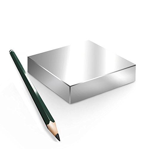 Neodym Magnet Magnete Quader groß ab 30mm von 18KG bis ca. 1000KG Zugkraft N45 N52 vernickelt NdFeB, Quader:110.6x89x19.5mm N45 800KG (1St.)