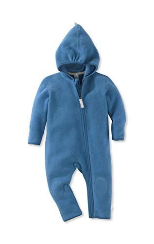 hessnatur Baby Mädchen und Jungen Unisex Fleece Overall aus Reiner Bio-Baumwolle delfinblau 74/80